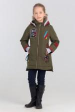 Демисезонная куртка-парка Bilemi 76140 хаки 110
