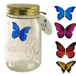 Летающая бабочка в стеклянной банке
