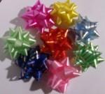 Бант-Звезда с золотой полосой 5 см (в ассортименте)