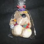 Мягкая игрушка Собака футболист в кепке с мячом см 17х23см
