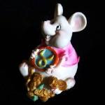 Копилка Крыс с талисманом глянец 11,5см 854