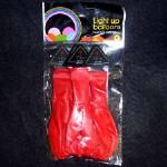 Воздушный шар с диодом (3 цвета) 32см (оптом 5 штук)