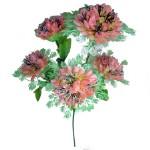 Букет хризантемы со снежинкой 5 голов 53см