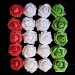 Латекс цветы 4см закрученые (оптом - 20 штук)