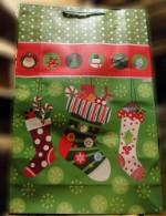 Пакет подарочный новогодние носки