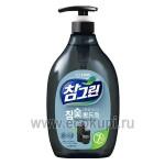 Корейское средство для мытья посуды овощей и фруктов древесный уголь CJ LION Chamgreen Charcoal 960 мл