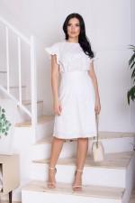 """Комплект блуза и юбка """"DC-427"""" (белый)"""