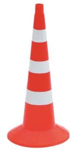 Конус аварийный мягкий КС-3.8.0 75см с 3 светоотражающими полосами (с утяжелителем)