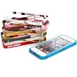 Бампер Cross металлический ультратонкий 0,7 мм для iPhone 5/5S, арт.006784/007427
