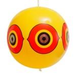 Отпугиватель птиц визуальный, виниловый шар с глазами хищной птицы жёлтый