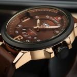 NAVIFORCE NF9086 Мужские наручные спортивные часы с кожаным ремешком