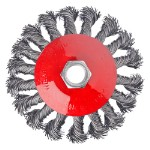 ЕРМАК Щетка металл. для УШМ 100мм/М14, крученая (тарелка)