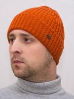 Шапка зимняя мужская Эдисон (Цвет оранжевый)