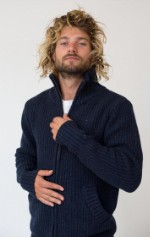 Трикотажная куртка AM GEERT darkblue XL