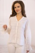 Блузка с шитьём Gang 20-373 S\M